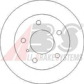Тормозной диск A.B.S. 17366